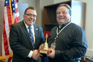 Sen. Hoffman with Tom Heidmann, a board member of the Anoka-Hennepin School Board and Minnesota School Boards Association representative.