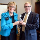Sen. Kathy Sheran (DFL-Mankato) and Bob Bonar, CEO of Children's Hospitals and Clinics of Minnesota