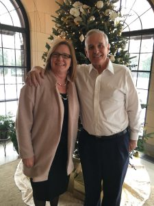 Governor Mark Dayton and Lieutenant Governor Michelle Fischbach at the Governor's Residence in December 2017.
